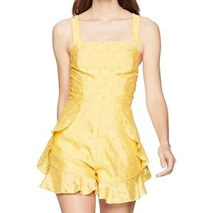 C/MEO Collective NWT Yellow Ruffle Romper Size M
